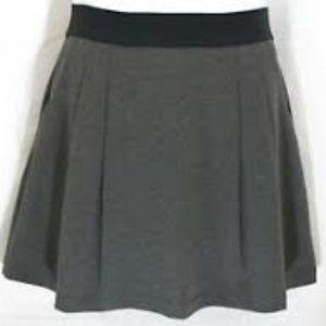 Grey Heather Stretch Elastic Waistband Skirt Sz S